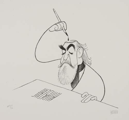Hirschfeld: Self-Portrait, Inkwell