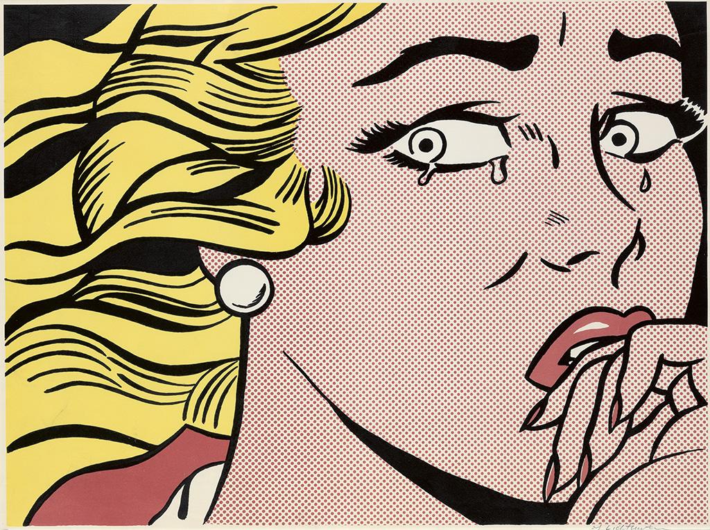 ROY LICHTENSTEIN Crying Girl.