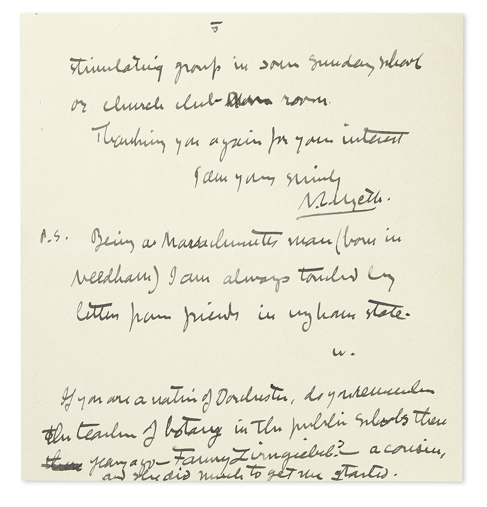 WYETH-NC-Autograph-Letter-Signed-with-a-postscript-Signed-W-