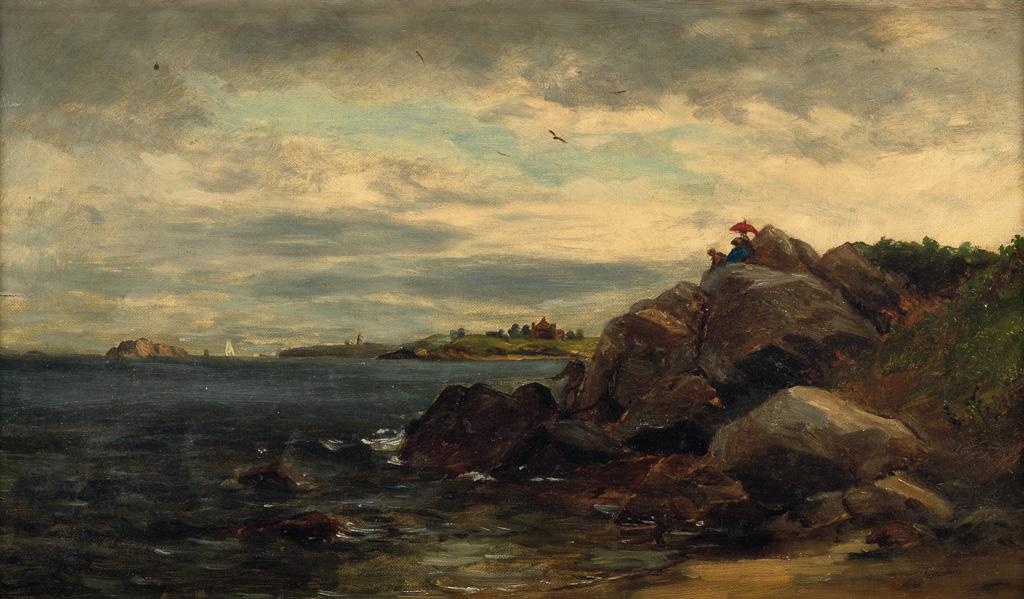 EDWARD M. BANNISTER (1828 - 1901) Untitled (Rhode Island Coastal Scene).