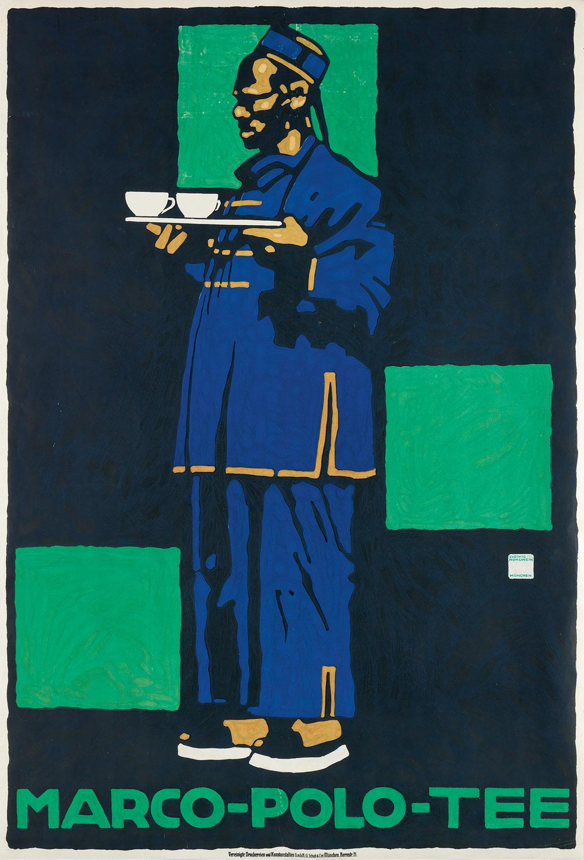 LUDWIG-HOHLWEIN-(1874-1949)-MARCO---POLO---TEE-1910-43x29-in