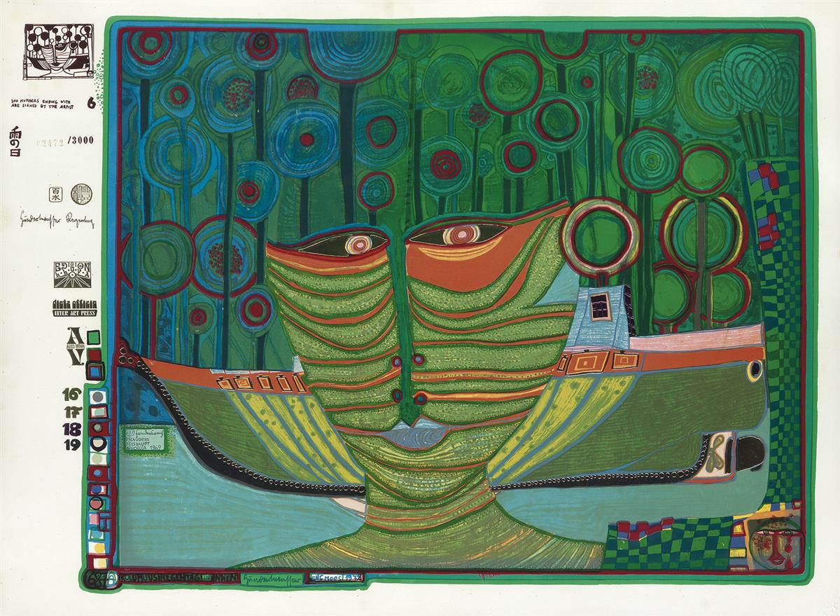 FRIEDENSREICH-HUNDERTWASSER-Columbus-Rainy-Day-India
