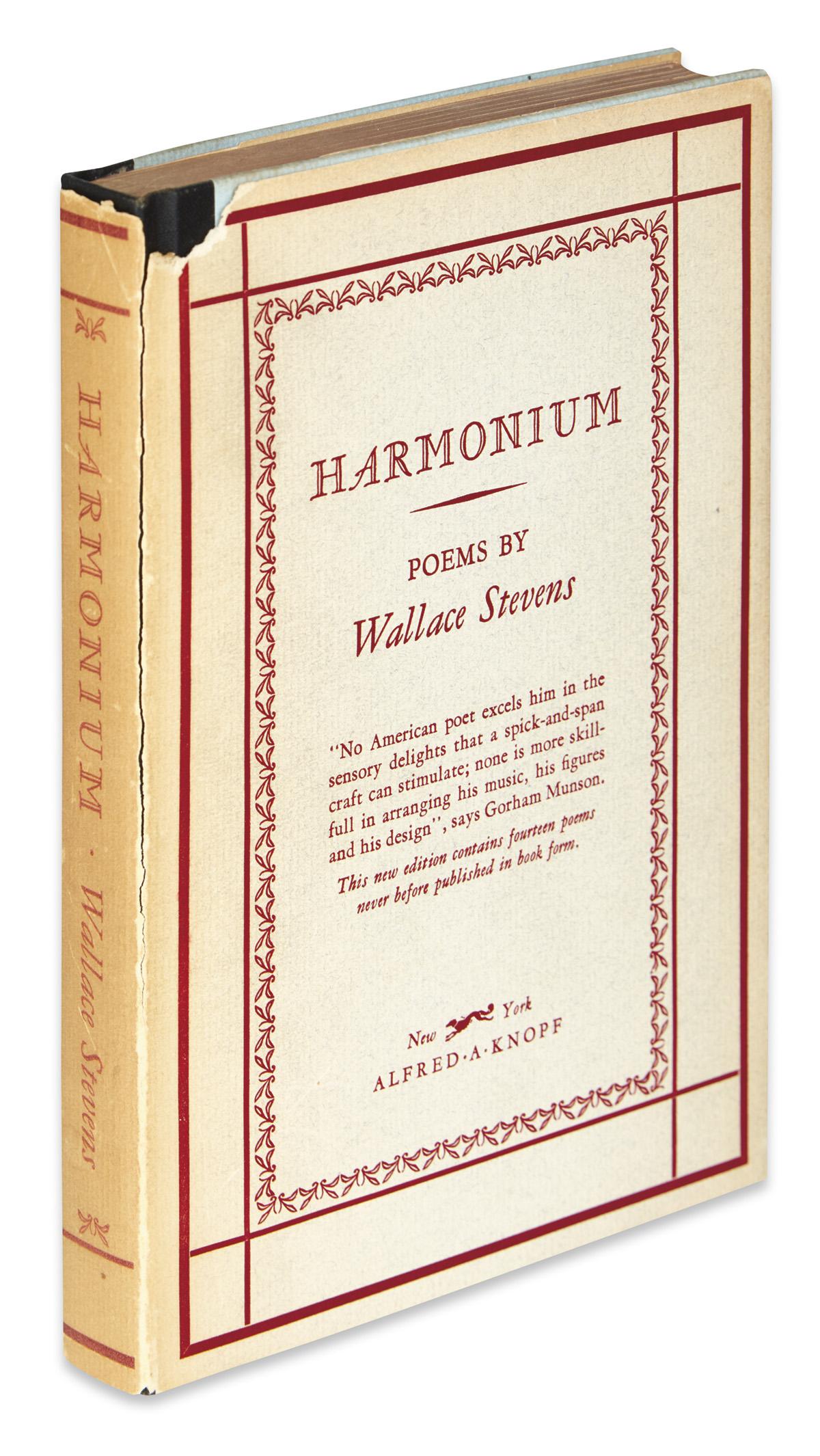 STEVENS, WALLACE. Harmonium.