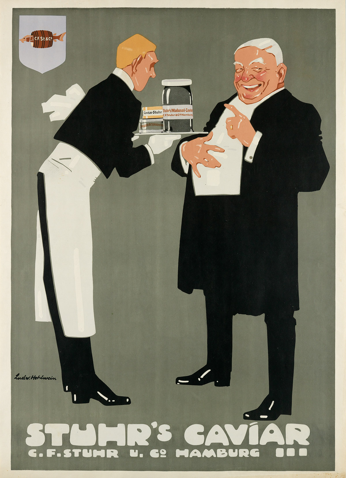LUDWIG-HOHLWEIN-(1874-1949)-STUHRS-CAVIAR-1909-41x29-inches-