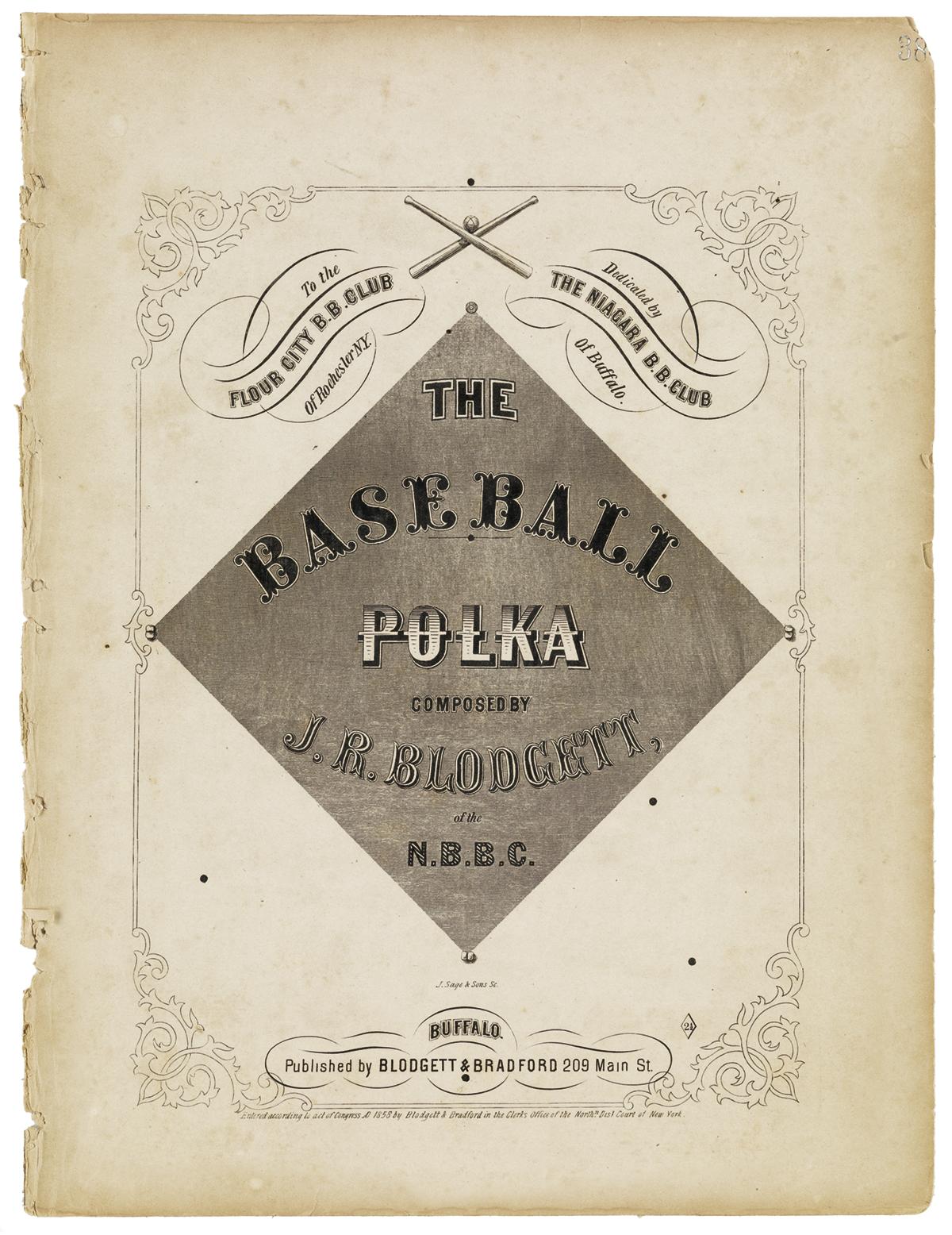 (SPORTS--BASEBALL.) Blodgett, J.R. The Baseball Polka.