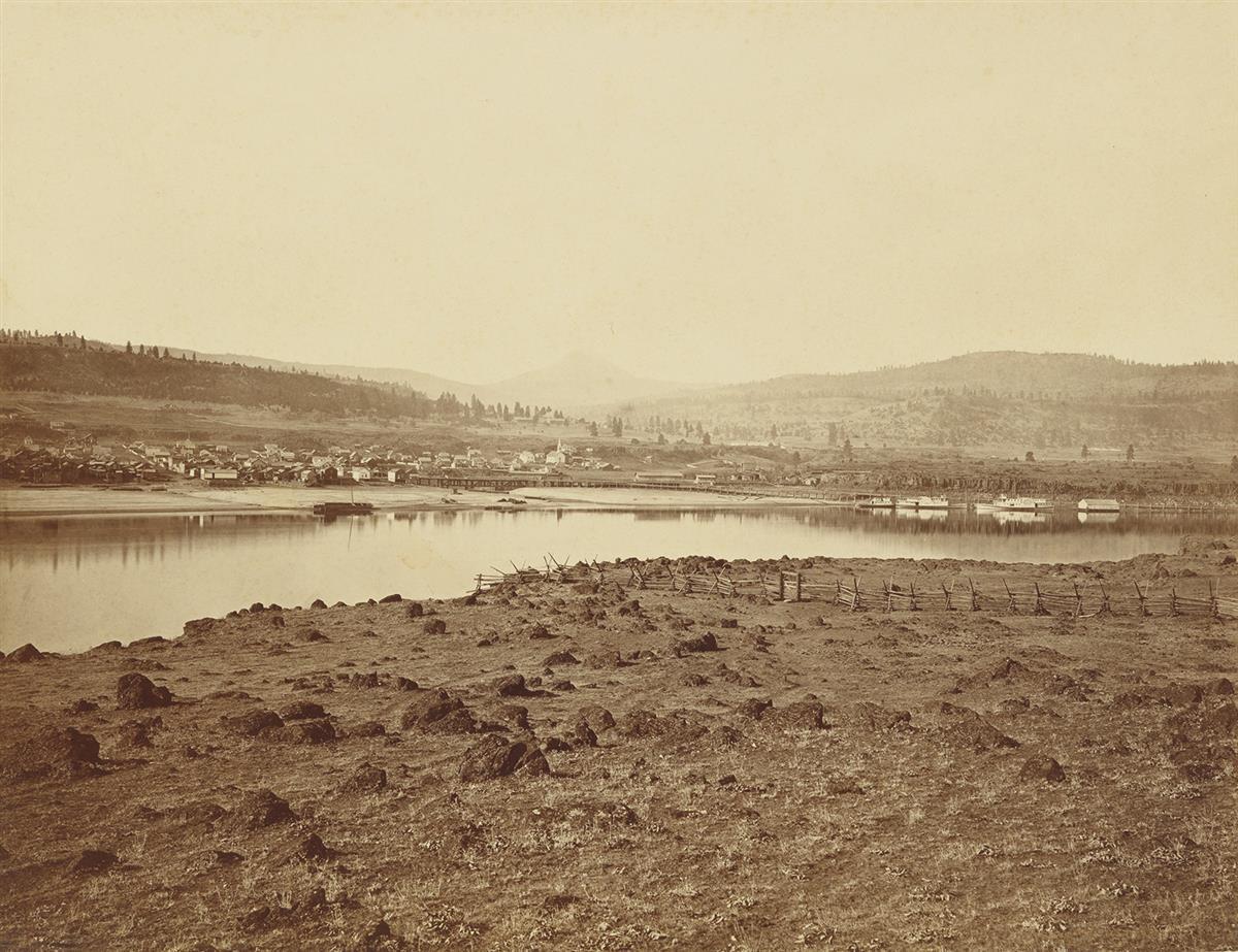 CARLETON-WATKINS-(1829-1916)-The-Dalles-Oregon-from-Rockland