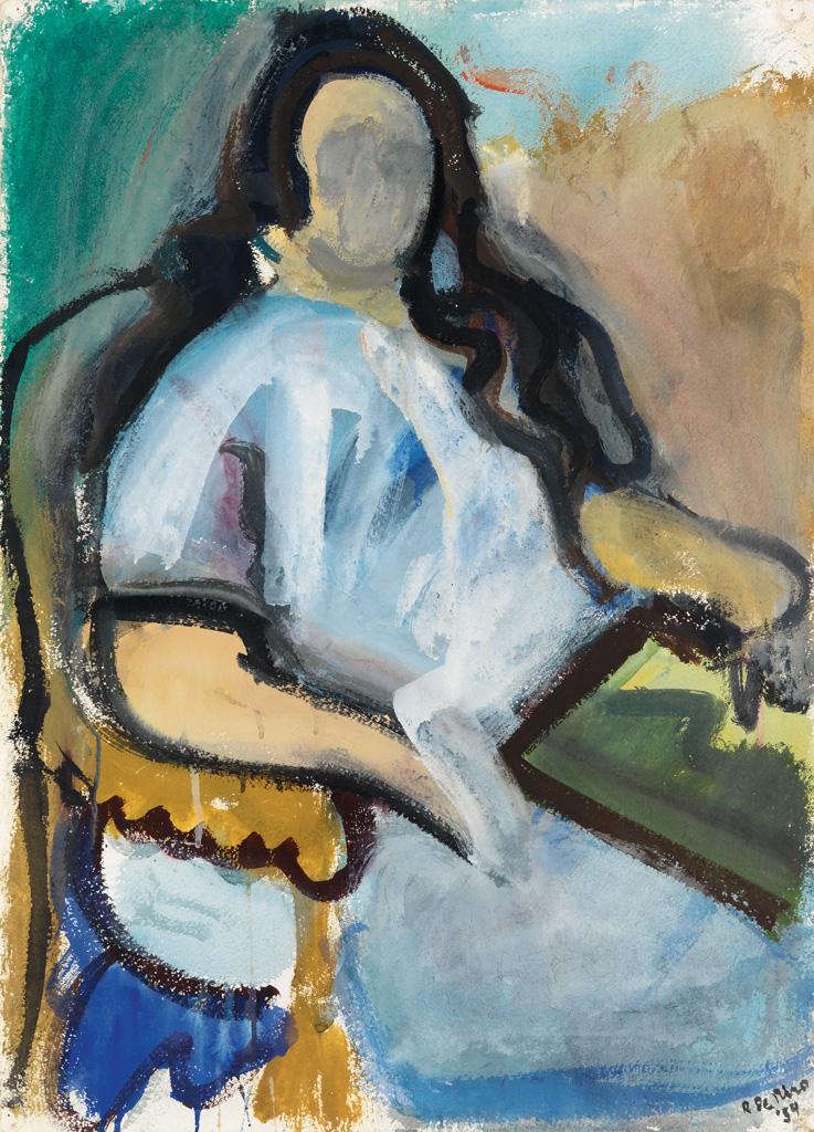 ROBERT DE NIRO, SR. Seated Woman.