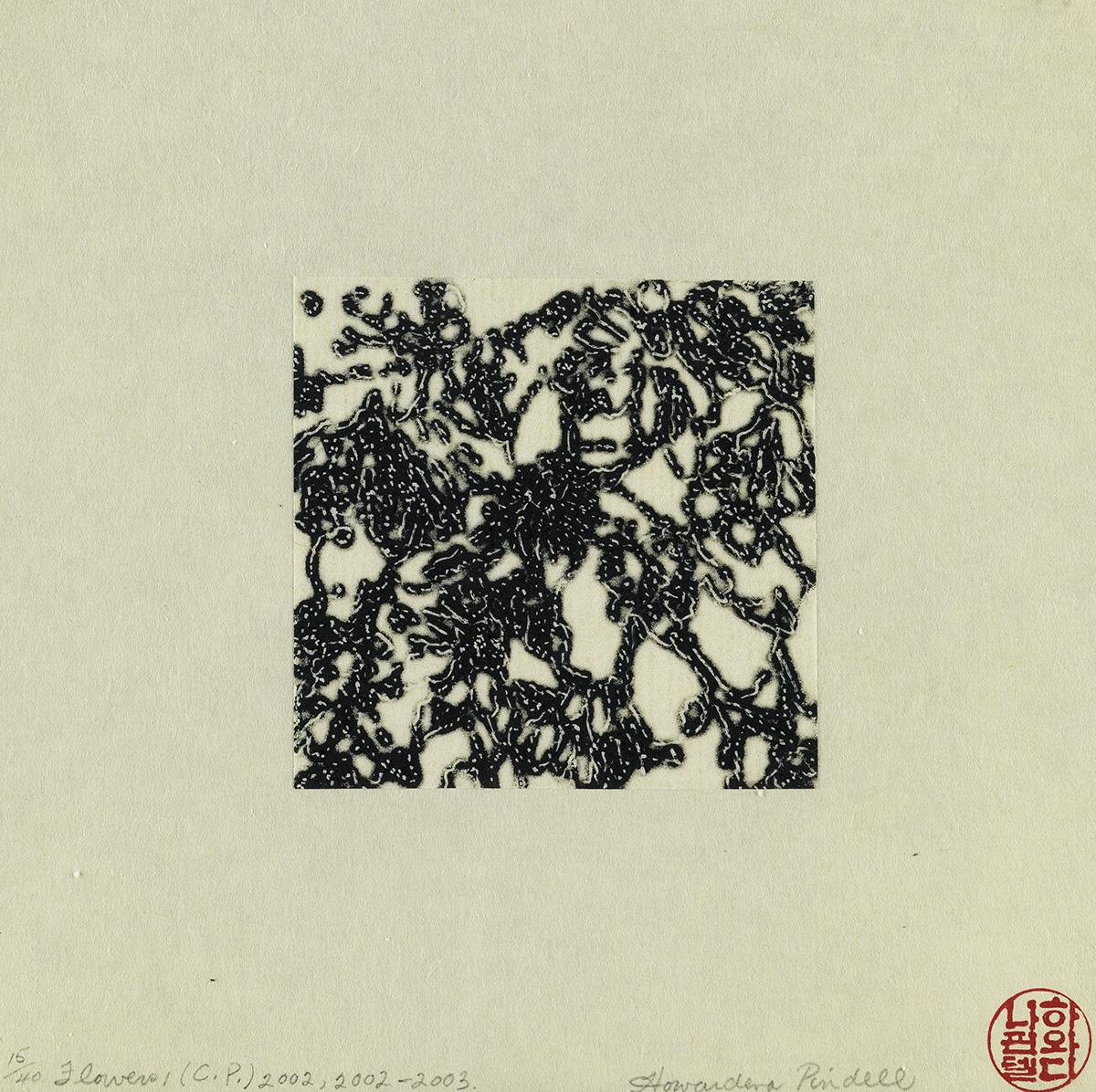 HOWARDENA PINDELL (1943 -   ) Flowers I (C.P.).
