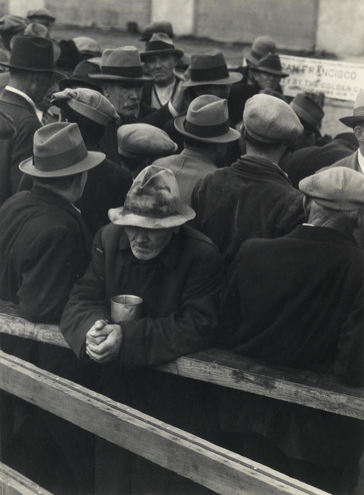 (DOROTHEA LANGE) (1895-1965) White Angel Breadline.