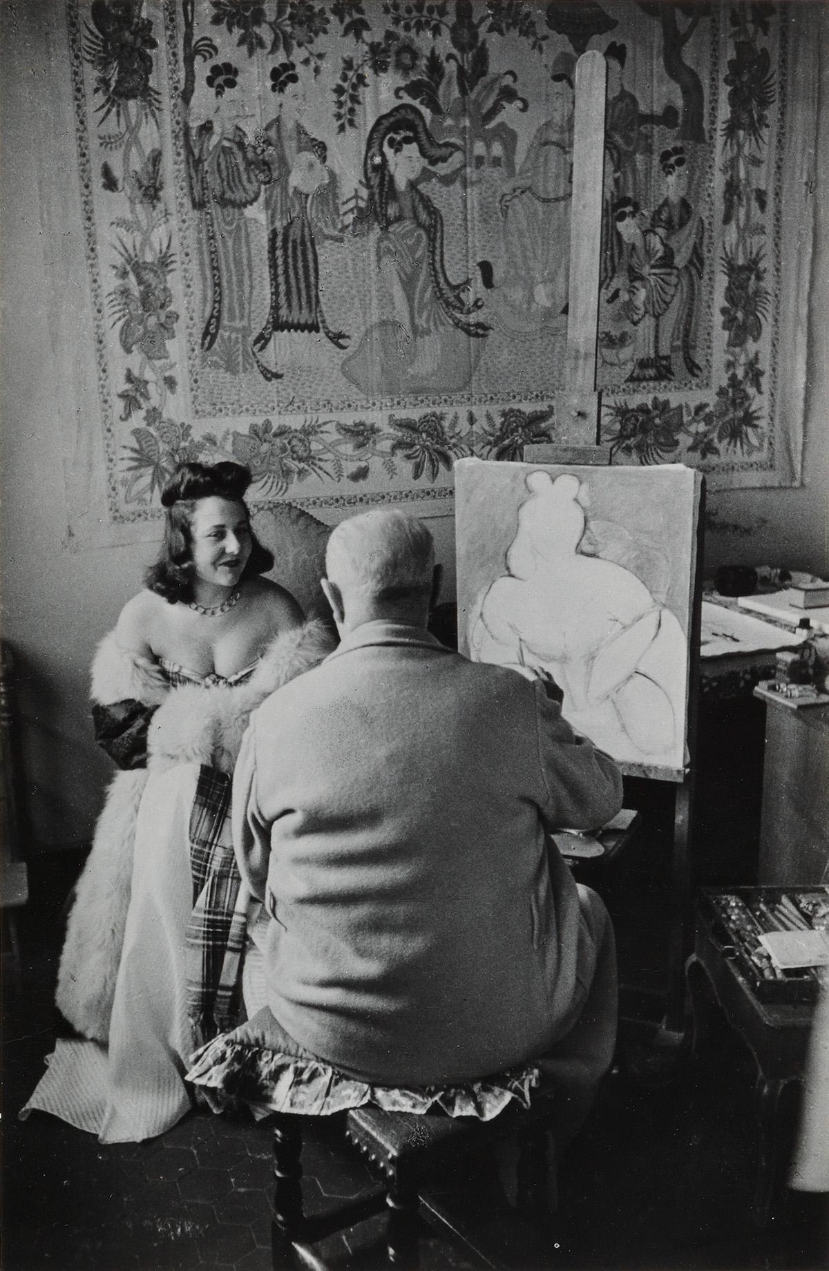 HENRI-CARTIER-BRESSON-(1908-2004)-Henri-Matisse-and-model-Ve