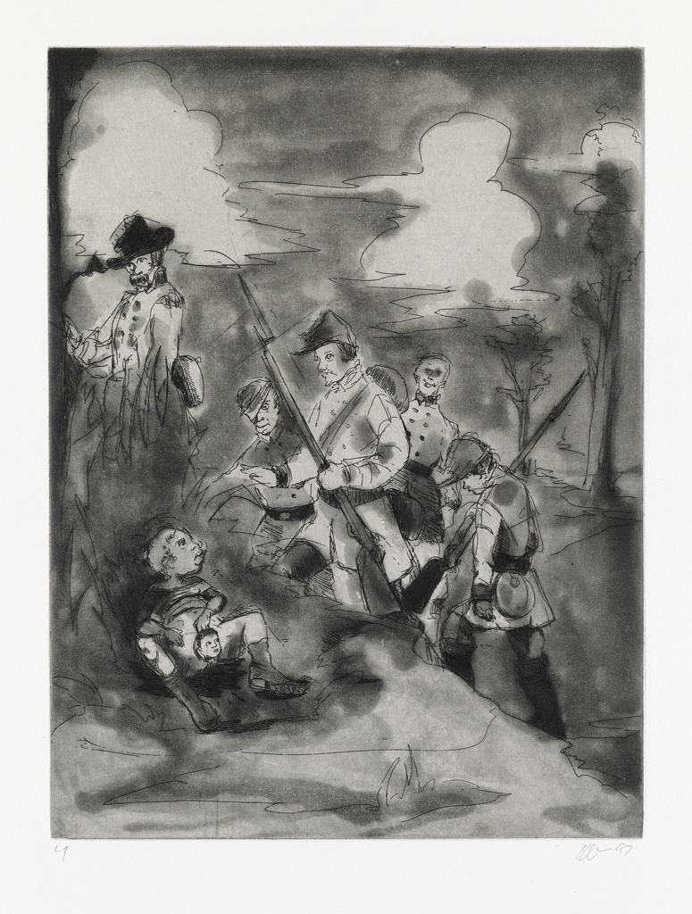 KARA-WALKER-(1969-----)-Set-of-4-etchings-with-aquatint