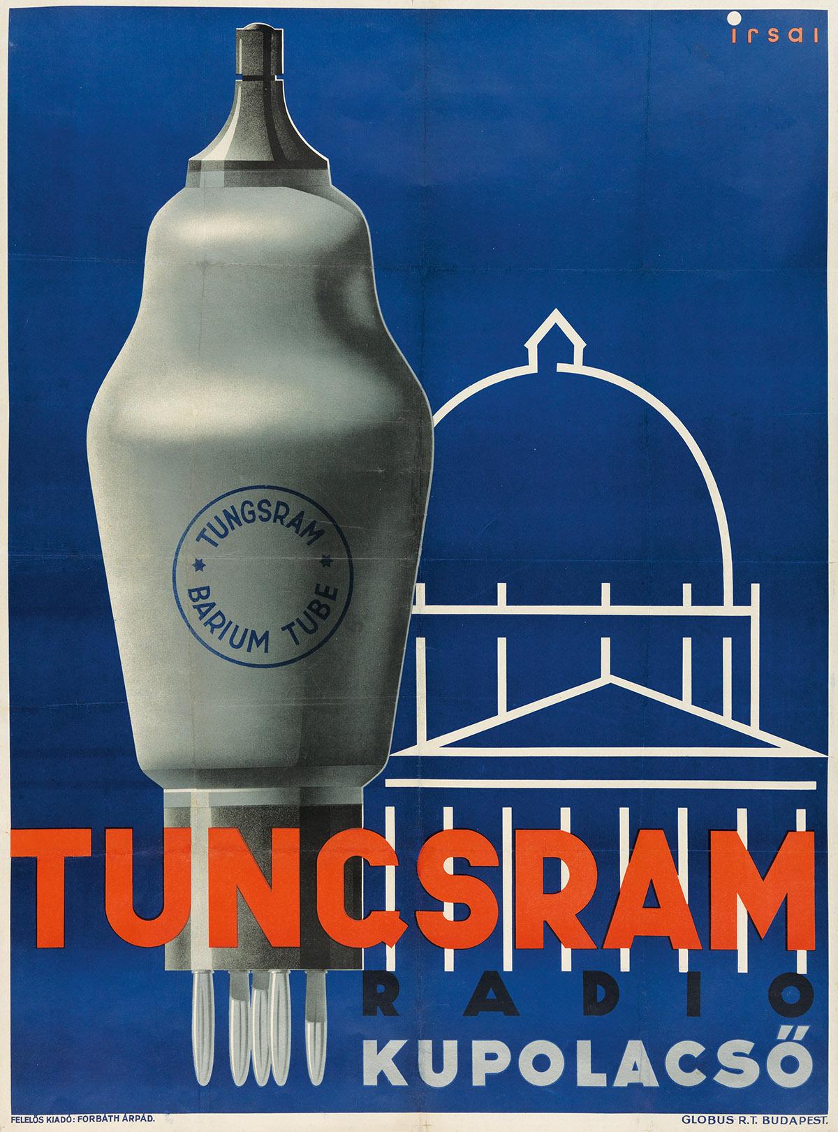 ISTVÁN-IRSAI-(1896-1967)-TUNGSRAM-RADIO-KUPOLASCÖ-1934-49x37