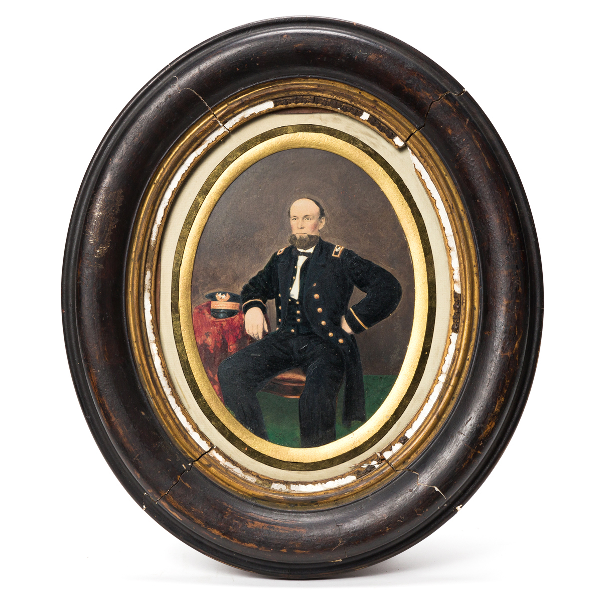 (CIVIL WAR--NAVY.) Portrait and papers of Ensign Christopher Flood.