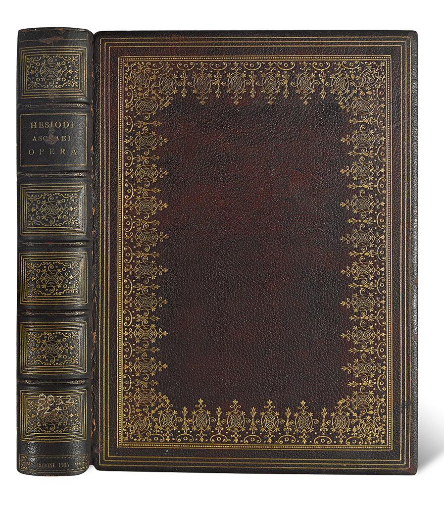 BODONI-PRESS--Hesiod-Opera-omnia--1785--Bound-by-Pawson--Nic