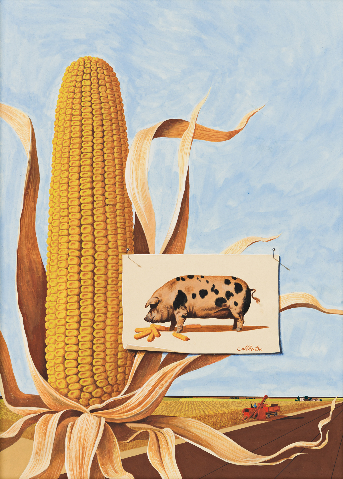 "JOHN ATHERTON (1900-1952) ""The Corn Belt."" [COVER ART / HOLIDAY MAGAZINE]"