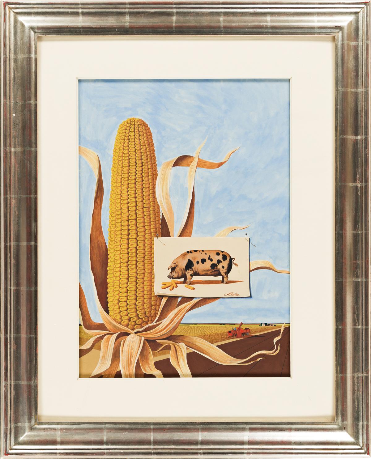 JOHN ATHERTON (1900-1952) The Corn Belt. [COVER ART / HOLIDAY MAGAZINE]