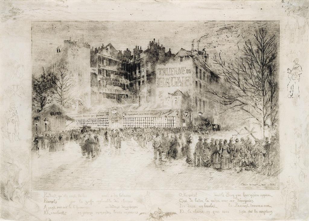 FÉLIX-BUHOT-La-Place-des-Martyrs-et-la-Taverne-du-Bagne