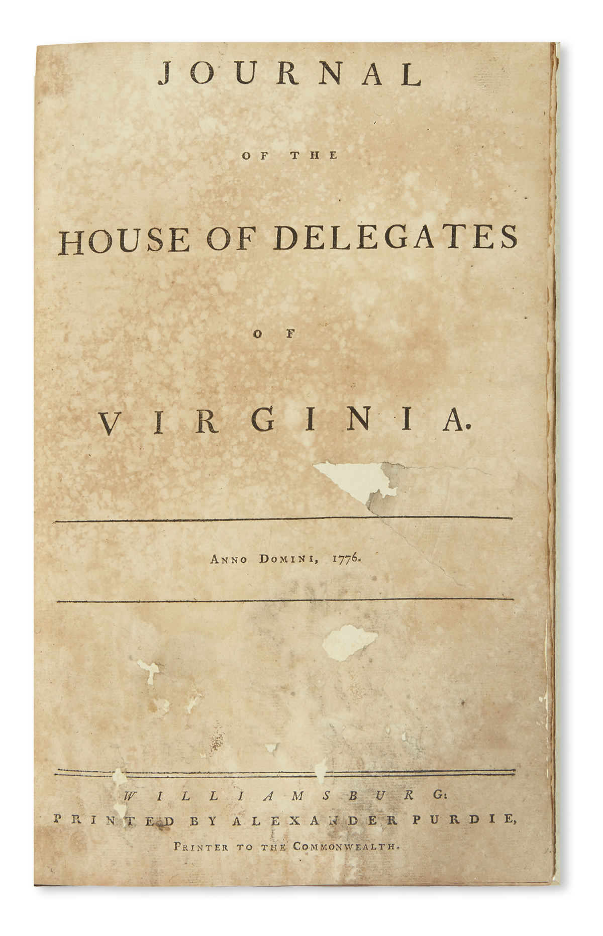 (AMERICAN-REVOLUTION--1776)-Journal-of-the-House-of-Delegate