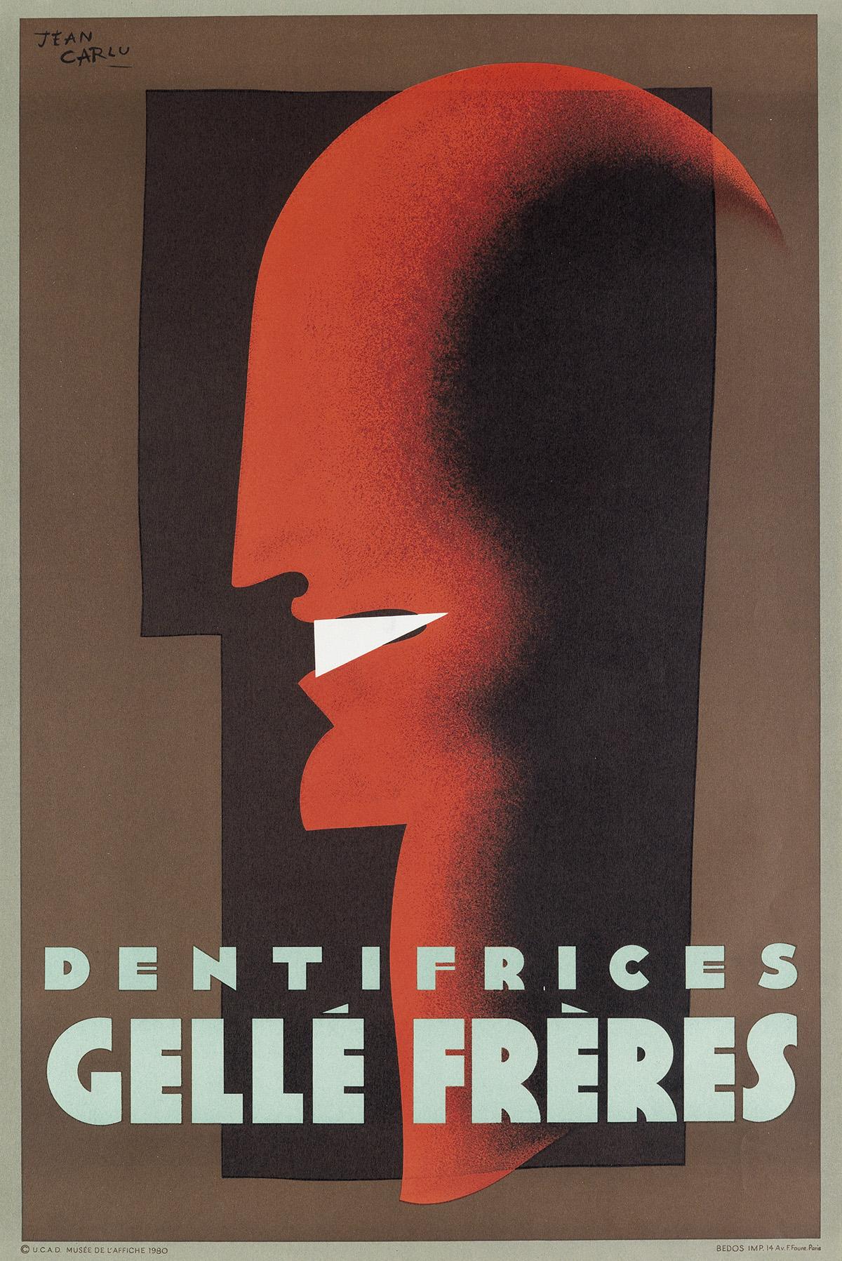 JEAN-CARLU-(1900-1997)-DENTIFRICES--GELLÉ-FRÈRES-1980-31x21-