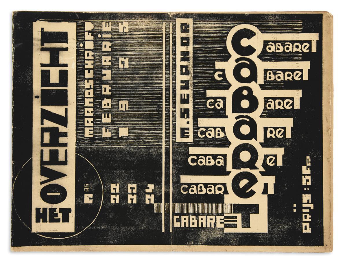 SEUPHOR, MICHEL [pseud. of F.L. Berckelaers]; and JOZEF PEETERS. Het Overzicht Nos. 22-23-24. February 1925.
