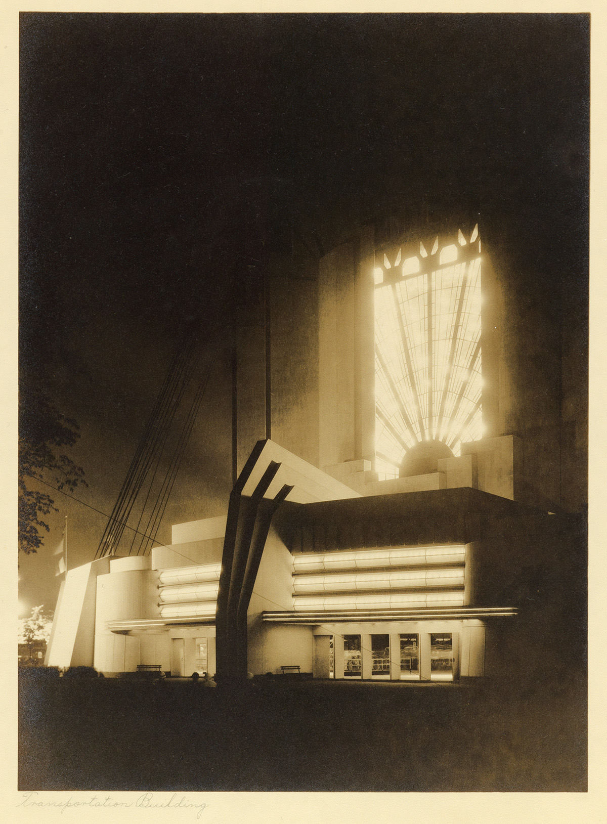 (CHICAGO WORLDS FAIR--KAUFMANN & FABRY) A group of 24 select modernist scenes of the splendid structures displayed throughout the Chic