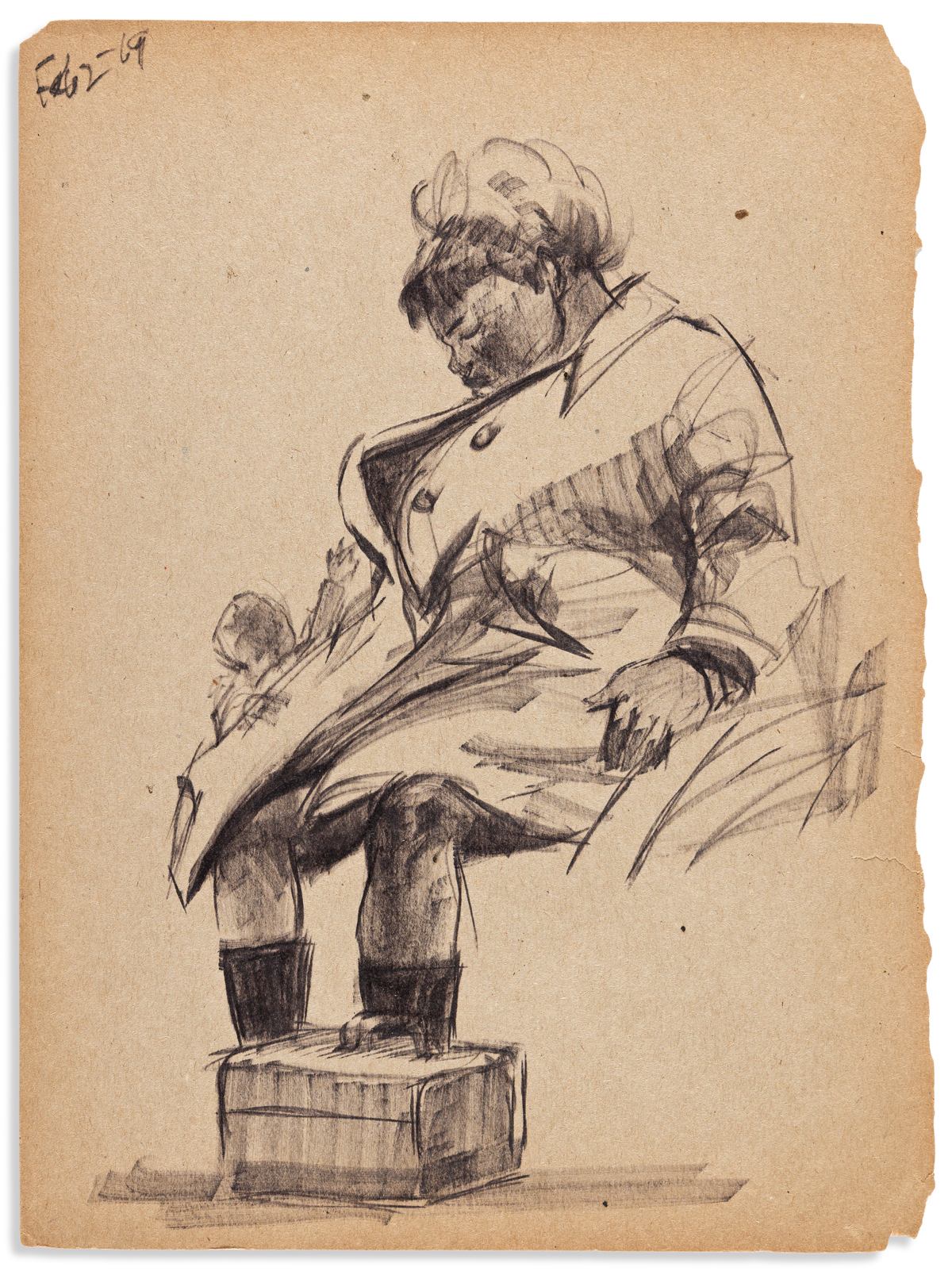 (ART.) Archive of sketches, correspondence, and other papers of Masood Ali Wilbert Warren.