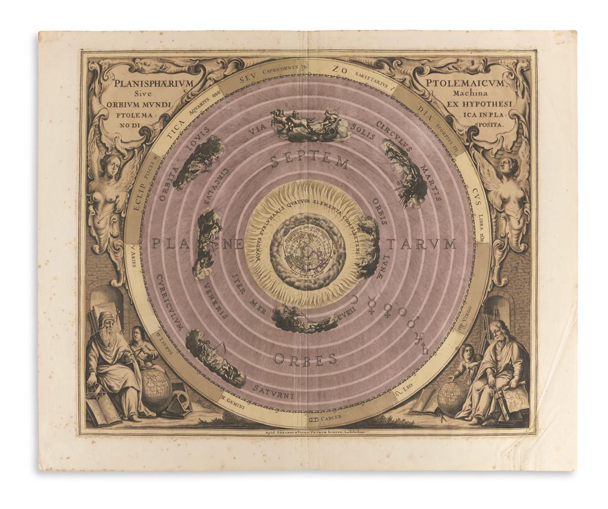(CELESTIAL)-Cellarius-Andreas-Planisphaerium-Ptolemaicum-Siv