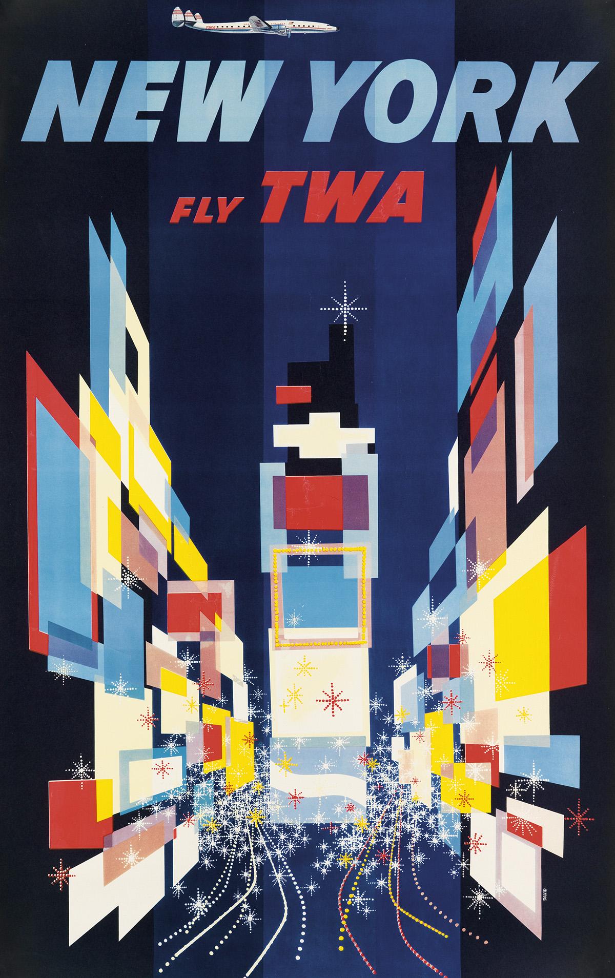 DAVID-KLEIN-(1918-2005)-NEW-YORK--FLY-TWA-1956-39x24-inches-