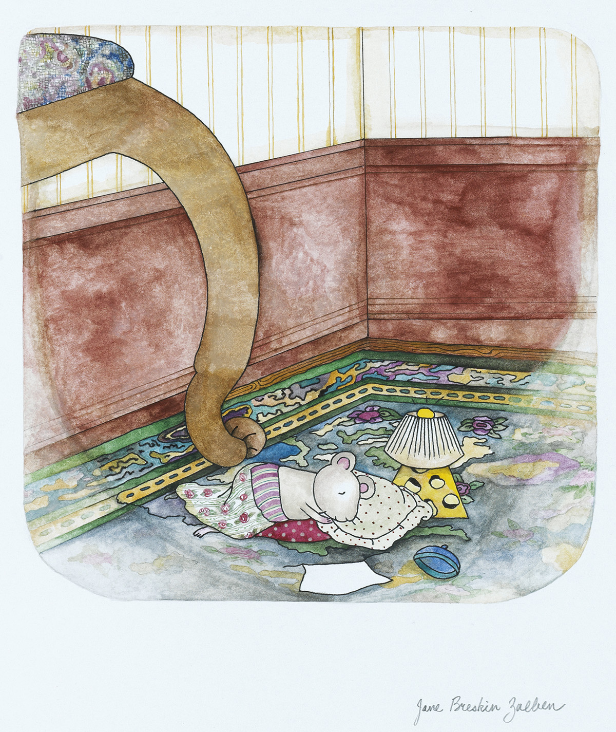 CHILDRENS MOUSE JANE BRESKIN ZALBEN. Janson Lived in a Museum, Tucked into the Corner of a Room Filled with Beautiful Old Furniture.