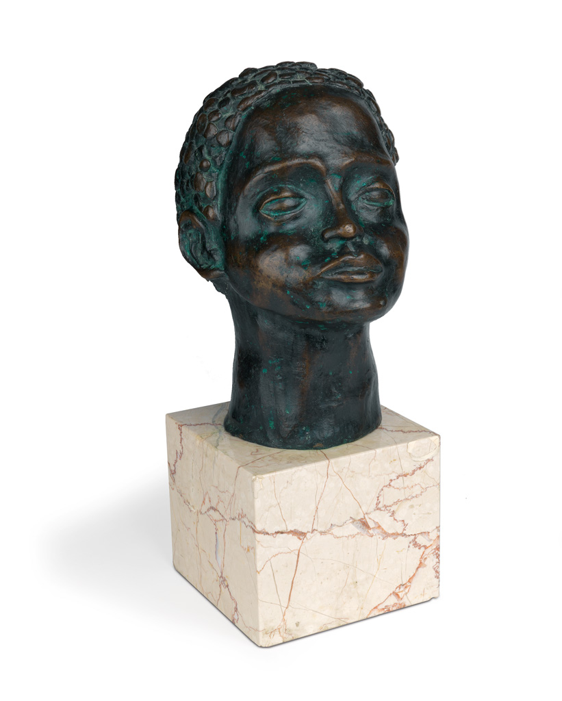 MARGARET BURROUGHS (1915 - 2010) Head of a Girl.