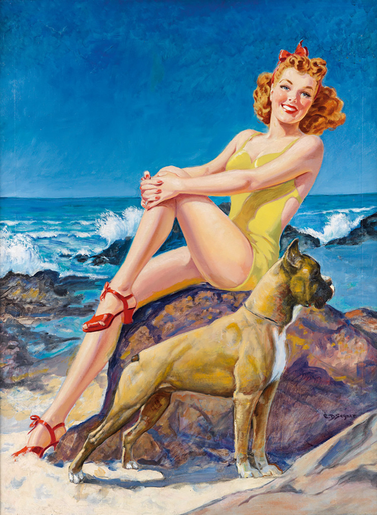 ELLEN SEGNER (1901-2001) Canadian beauty and boxer. [COVER ART / PIN-UP]