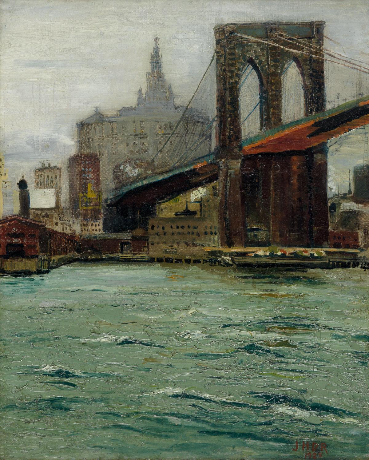 JOHN HAROLD DEVON ROBINSON (1895 - 1970) Untitled (Brooklyn Bridge).