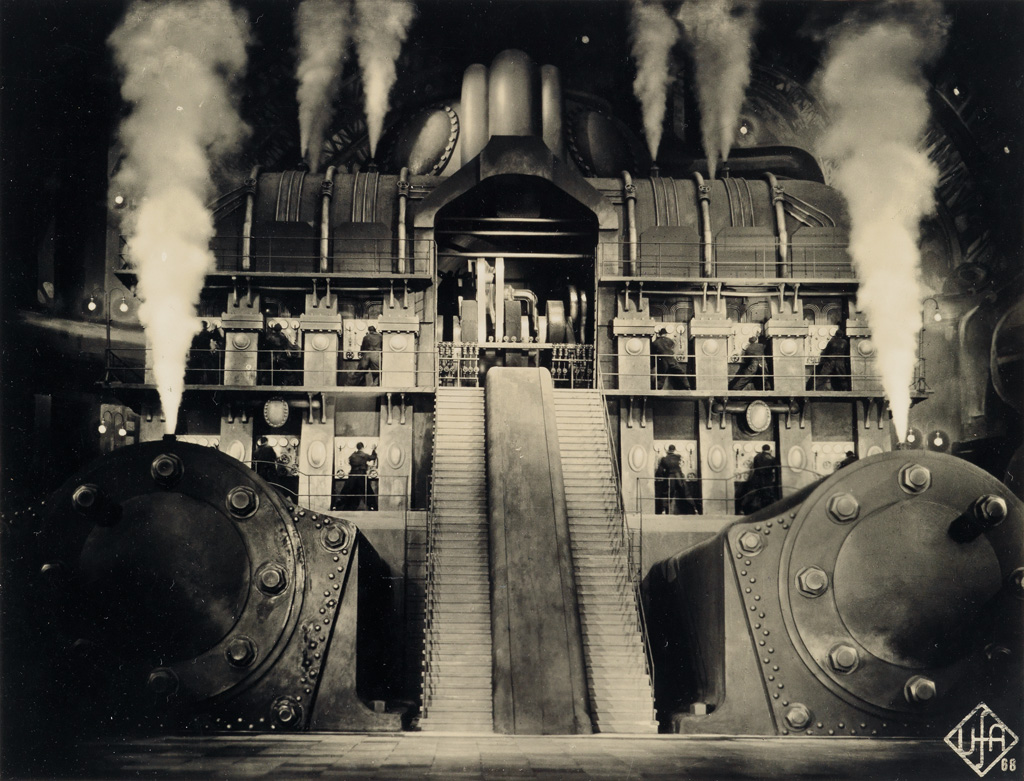 (METROPOLIS--THE MOVIE) A mini-archive related to Fritz Langs cult classic sci-fi film Metropolis, with 9 photographs and assorted eph