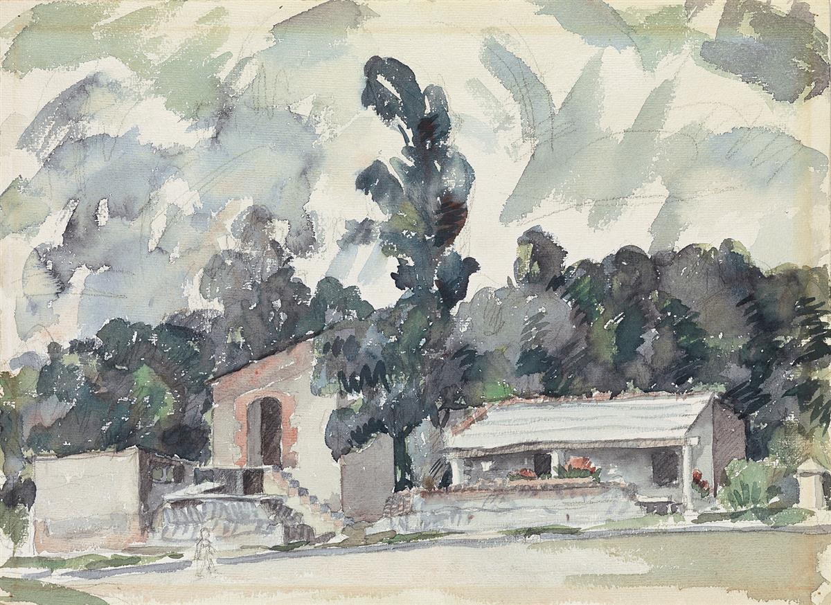 AARON-DOUGLAS-(1898---1979)-Adobe-Houses