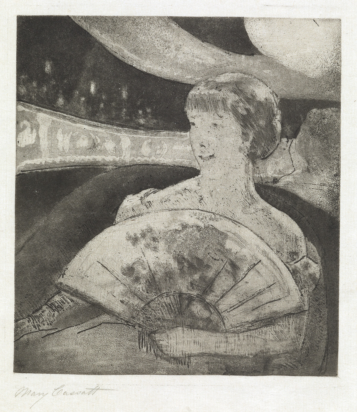 MARY CASSATT In the Opera Box (No. 3).
