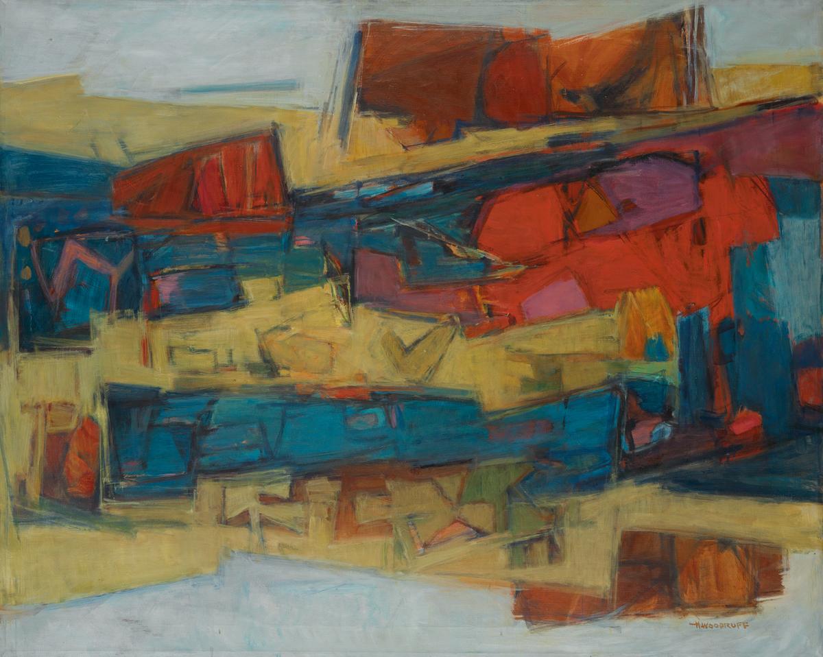 HALE WOODRUFF (1901 - 1979) Primordial Landscape.