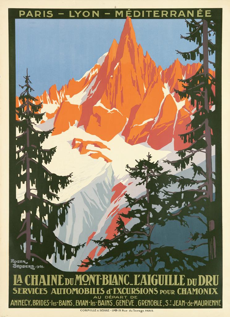 ROGER-BRODERS-(1883-1953)-LA-CHAINE-DU-MONT---BLANC-LAIGUILL