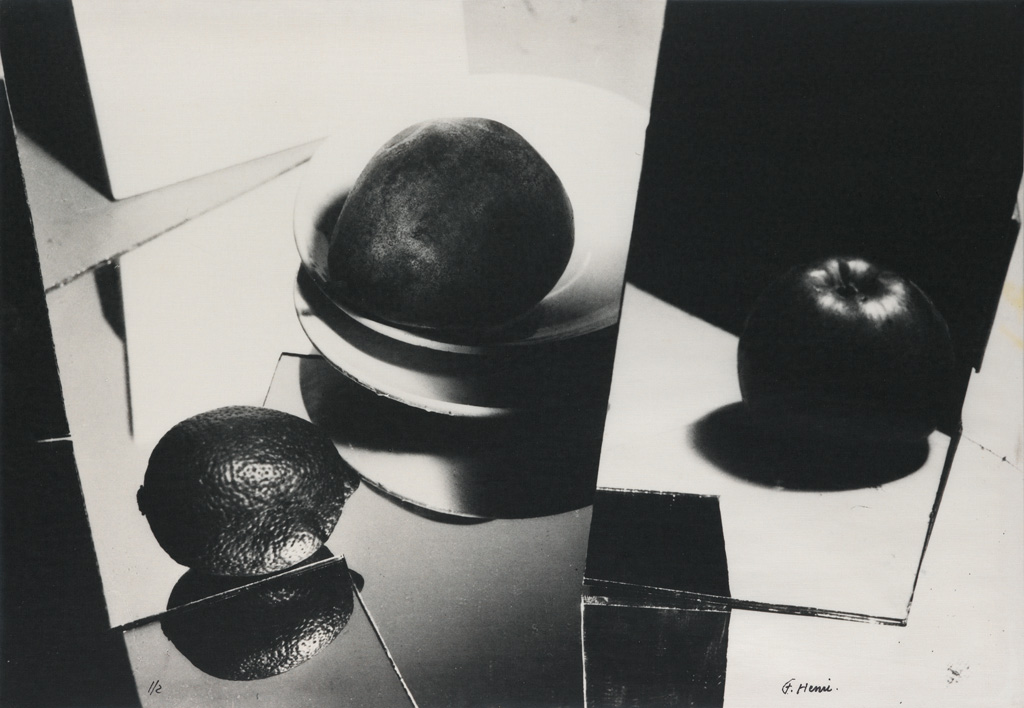 FLORENCE HENRI (1893-1982) Still Life with Mirrors and Fruit.