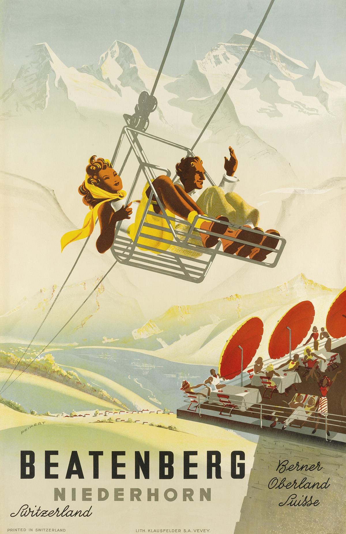 MARTIN-PEIKERT-(1901-1975)-BEATENBERG-NIEDERHORN-1945-39x25-