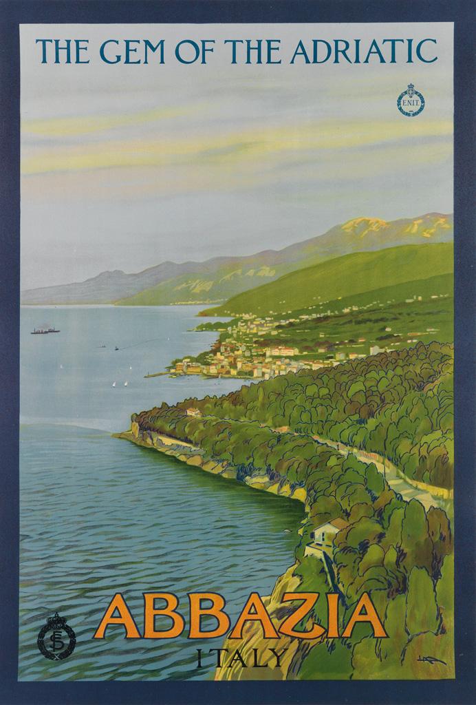 LEOPOLDO METLICOVITZ (1868-1944). ABBAZIA / ITALY. Circa 1920. 37x25 inches, 95x63 cm.