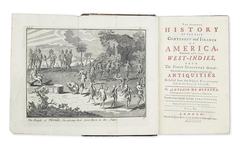 HERRERA, ANTONIO DE. The General History of the Vast Continent and Islands of America.