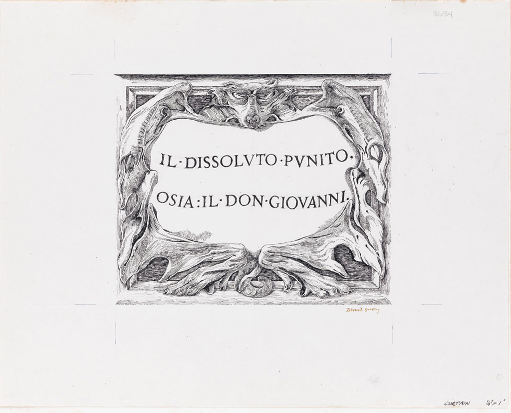 (THEATER.) EDWARD GOREY. Il Dissoluto Punito, Osia: Il Don Giovanni.