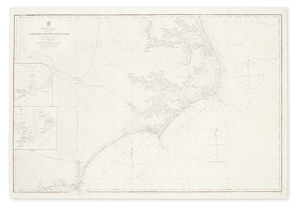 BRITISH HYDROGRAPHIC OFFICE. Albemarle Sound to Cape Fear.