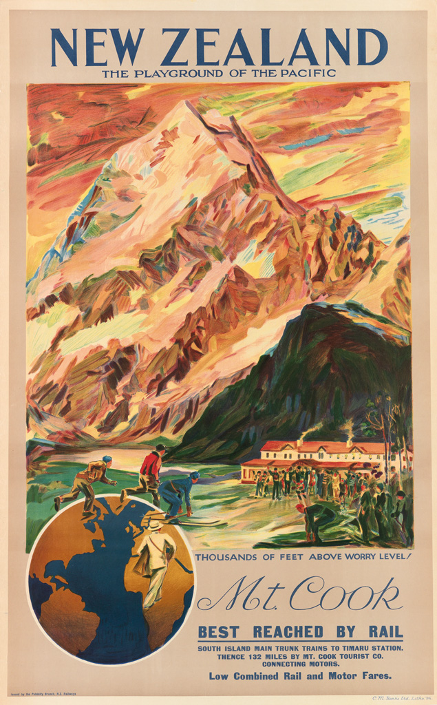 DESIGNER-UNKNOWN-NEW-ZEALAND--MT-COOK-1932-40x25-inches-101x
