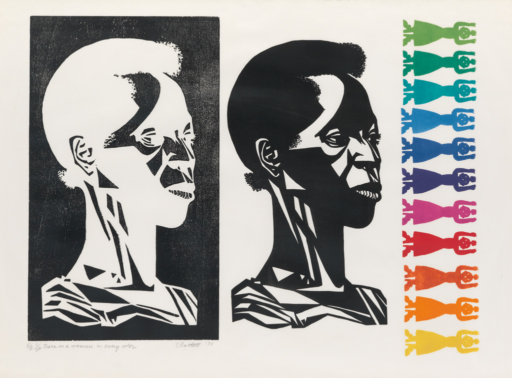 ELIZABETH CATLETT (1915 - 2012) There is a woman in every color.