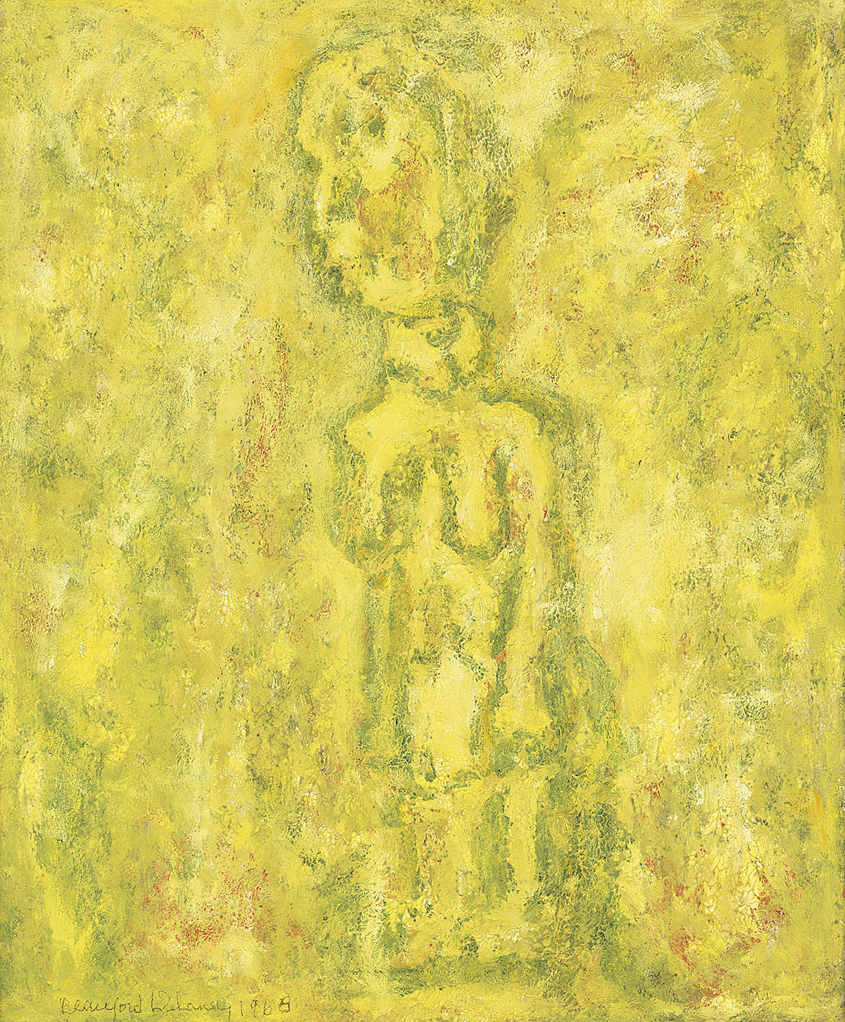 BEAUFORD DELANEY (1901 - 1979) Untitled (African Figure).