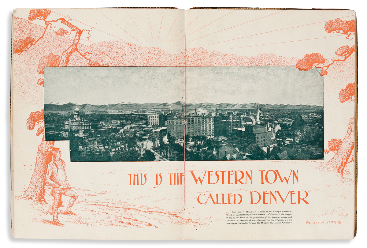 (WEST--COLORADO.) A Western Town Called Denver: A Book of Select Views and Concise Information.