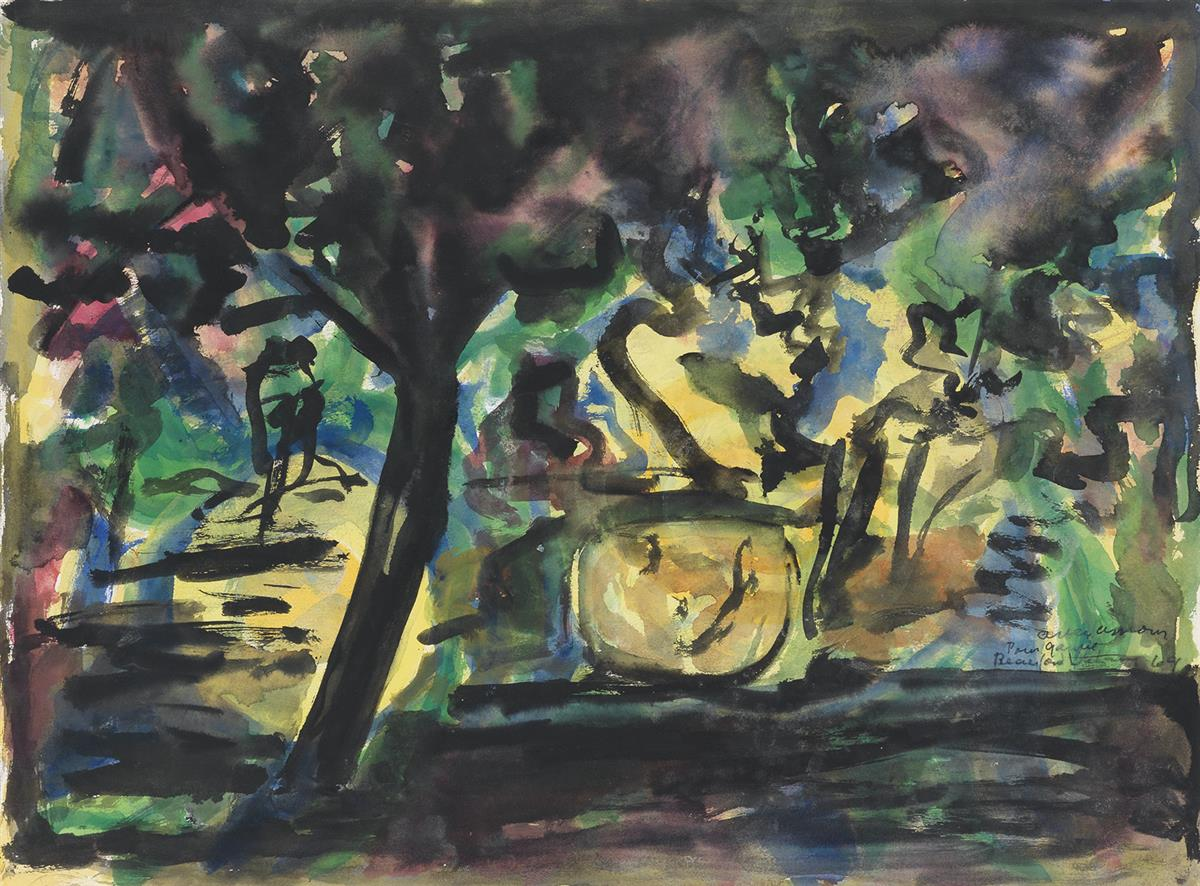 BEAUFORD DELANEY (1901 - 1979) Untitled (Abstracted Landscape).