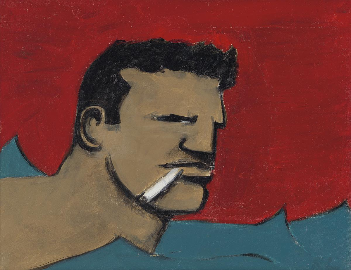 ROBERT LOUGHLIN (1949-2011)  Man in Water.