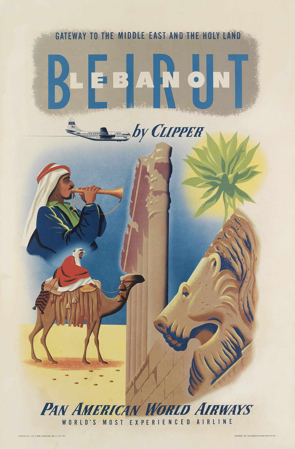 DESIGNER-UNKNOWN-BEIRUT-LEBANON-BY-CLIPPER--PAN-AMERICAN-WOR